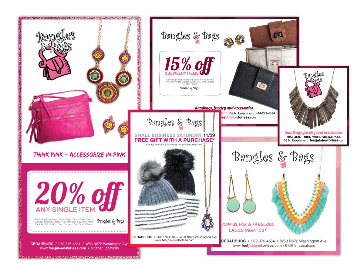 Print Ad Design for Bangles and Bags Accessories