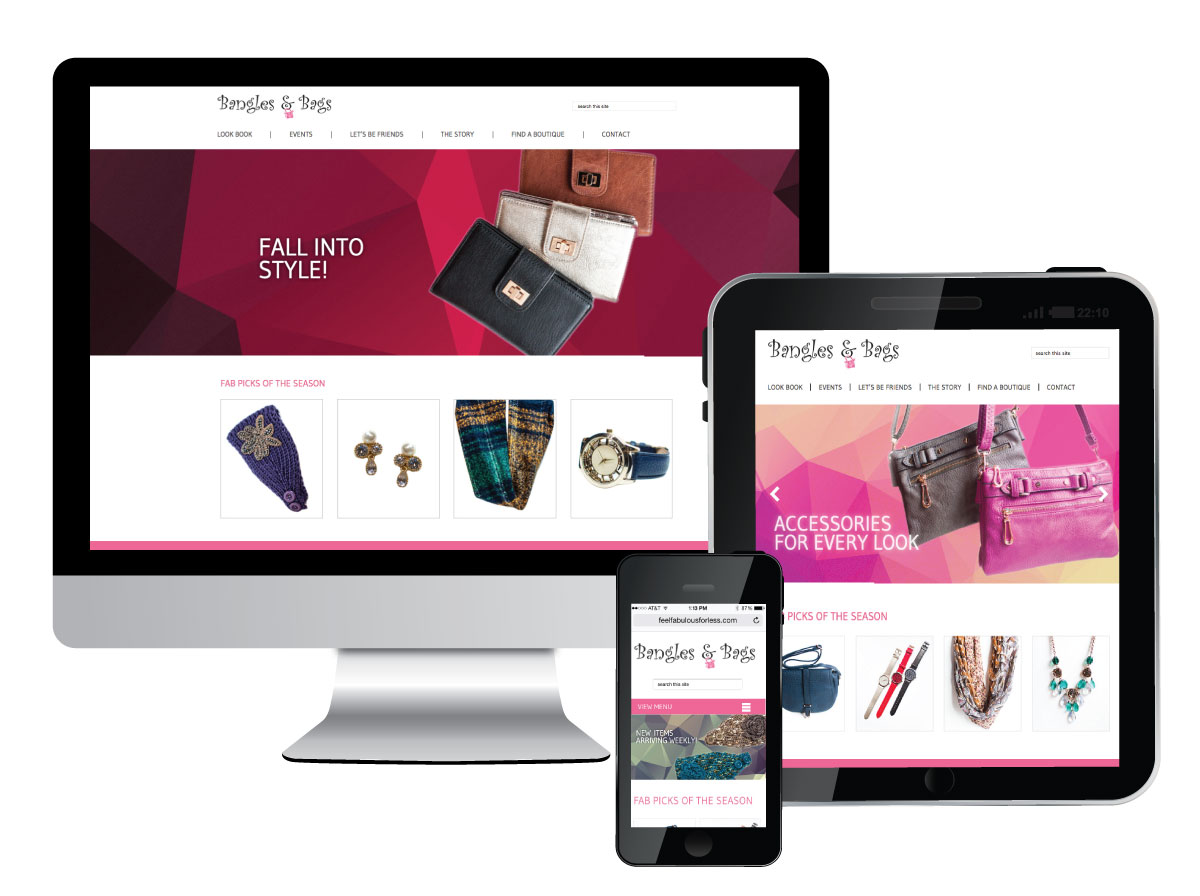 Responsive Website for Bangles and Bags Accessories