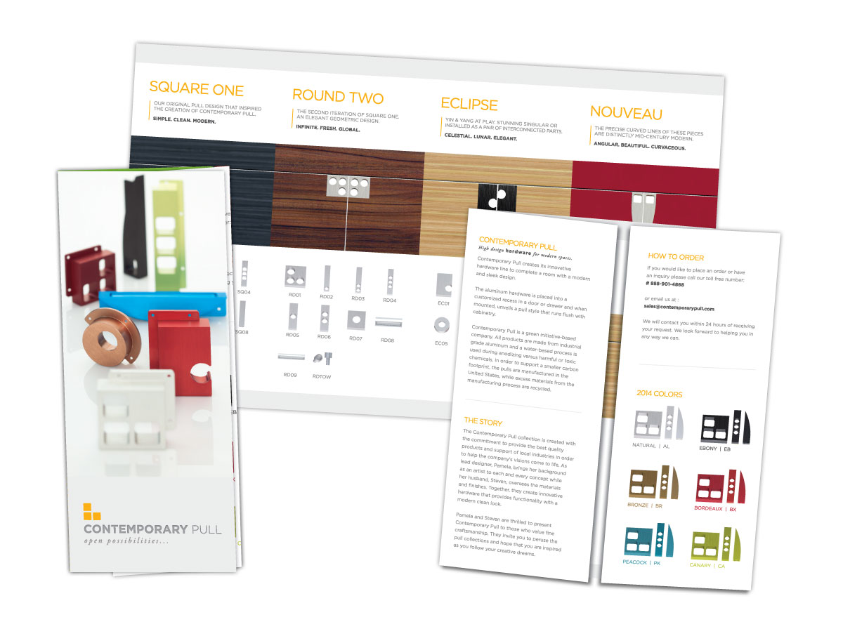 Gate-fold Brochure for Contemporary Pull