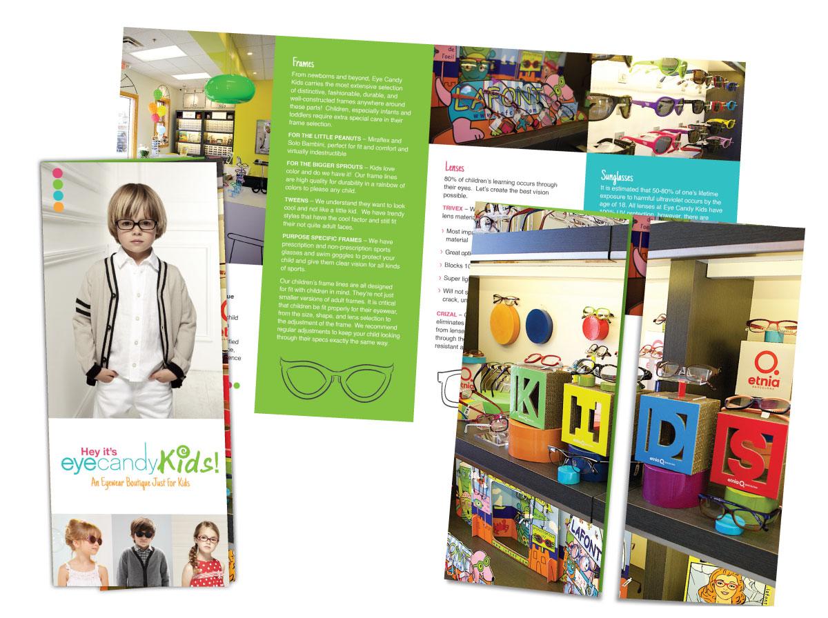 EyeCandyKids Gate-fold Brochure Design