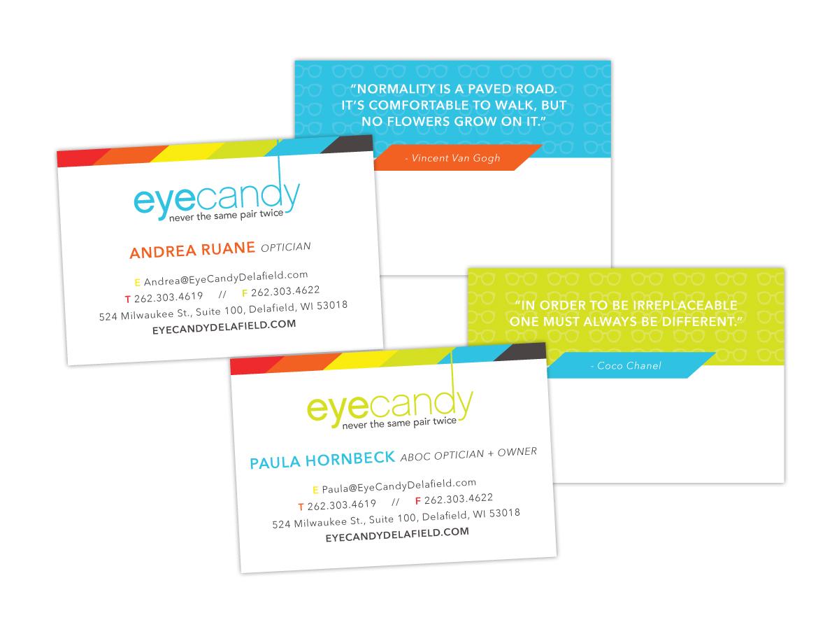 Business Card Design for Eyecandy Glasses