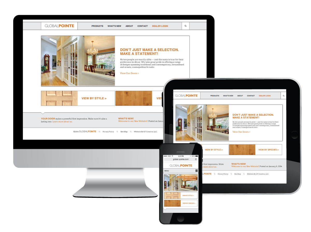 Responsive Website for Global Pointe Doors