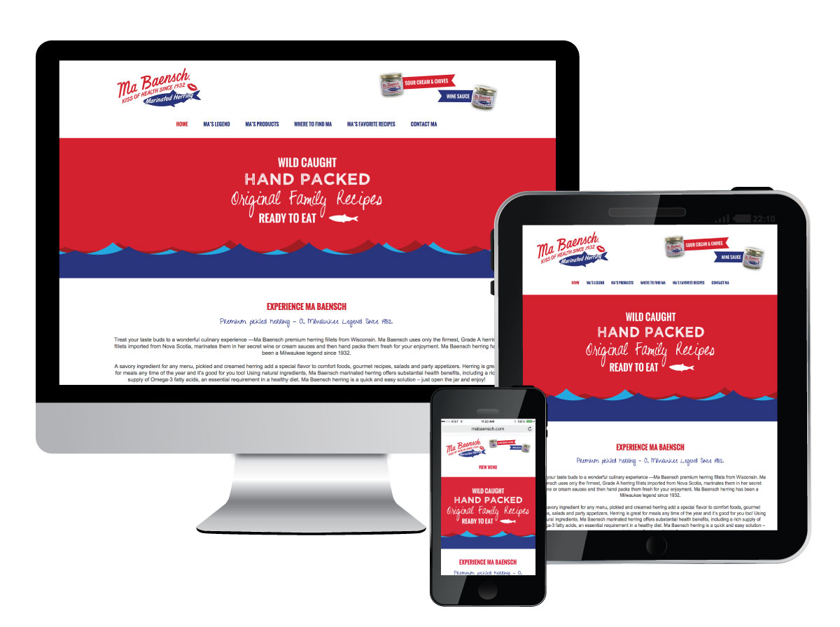 Responsive Website for MaBaensch Marinated Herring
