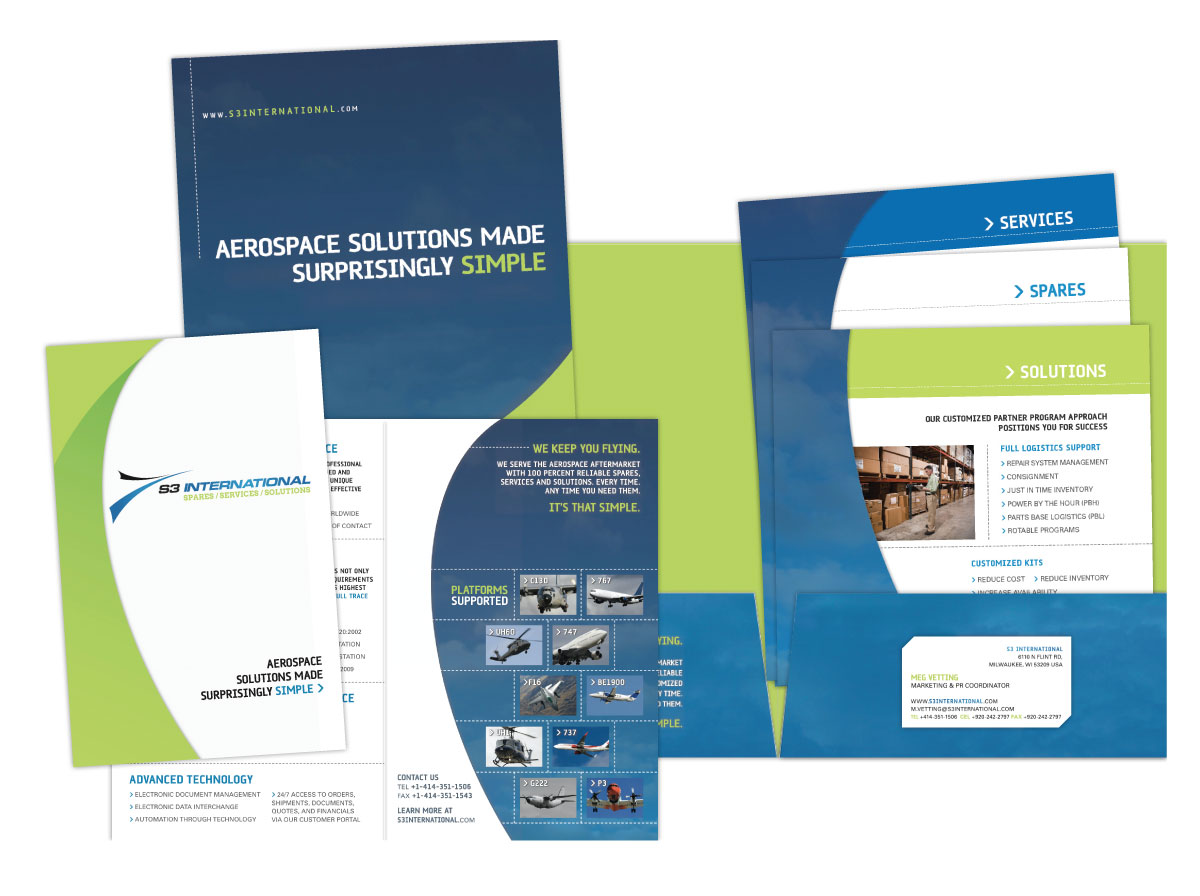 Folder, Brochure and Sell Sheet Design for S3 International