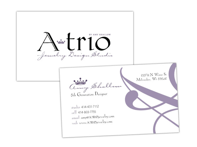 Branding, Logo and Business Card for ATrio Jewelry Design Studio