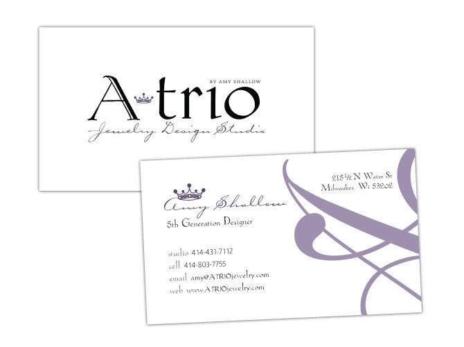 Branding, Logo and Business Card for ATrio Jewelry Design Studio