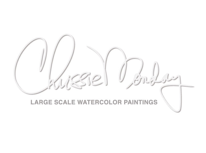 Signature Logo Design for Watercolor Artist Chrissie Monday