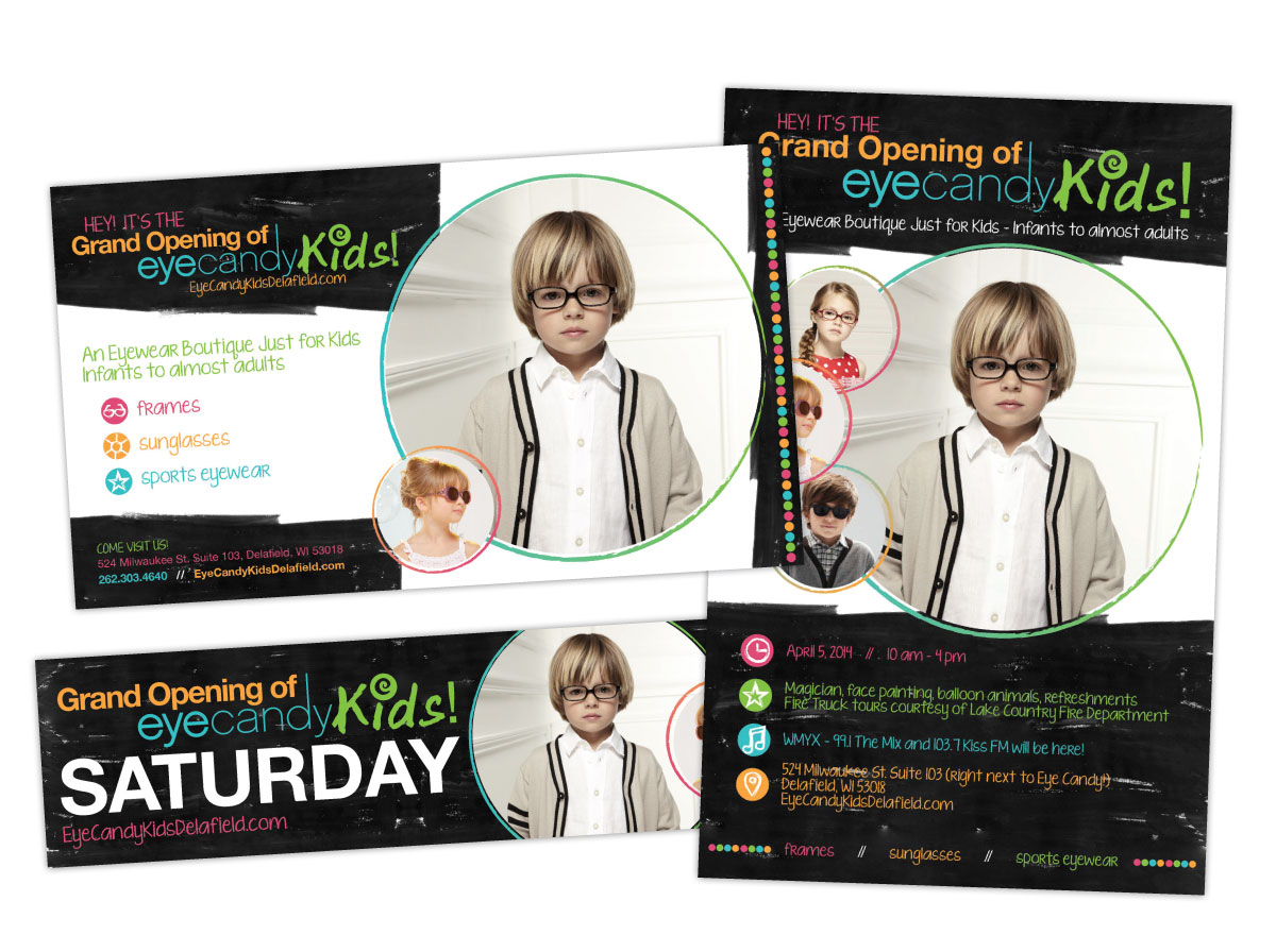eyecandy kids ad and poster design