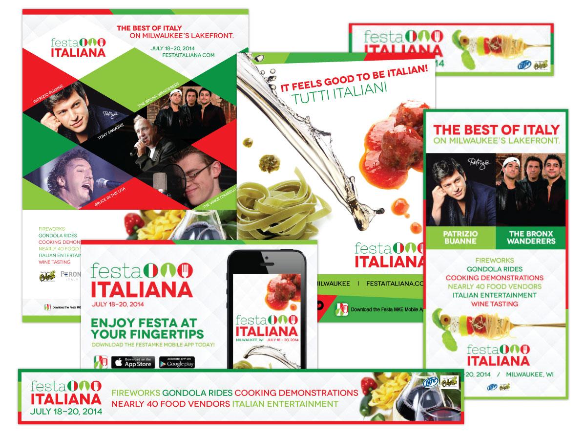 Print and Online Ads for Festa Italiana Milwaukee 2014