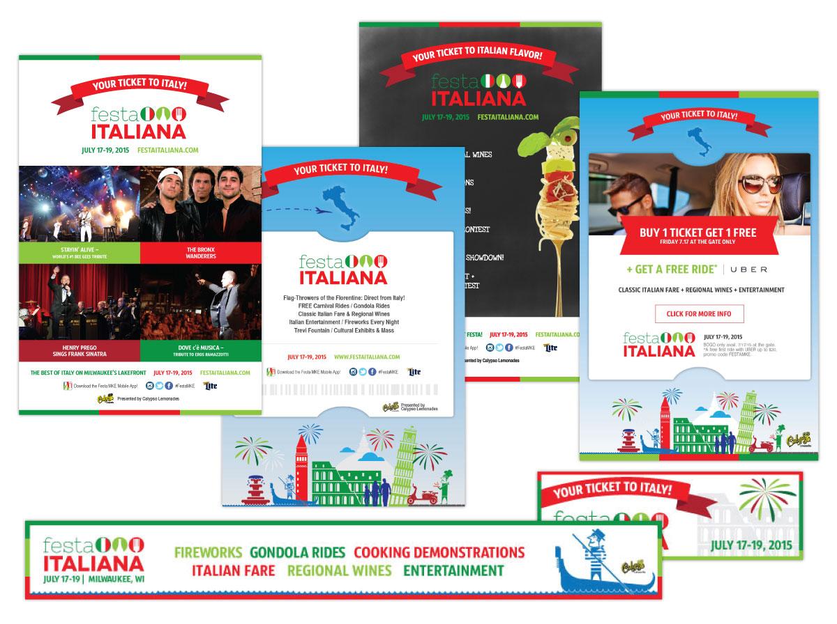 Print and Online Ads for Festa Italiana Milwaukee 2015