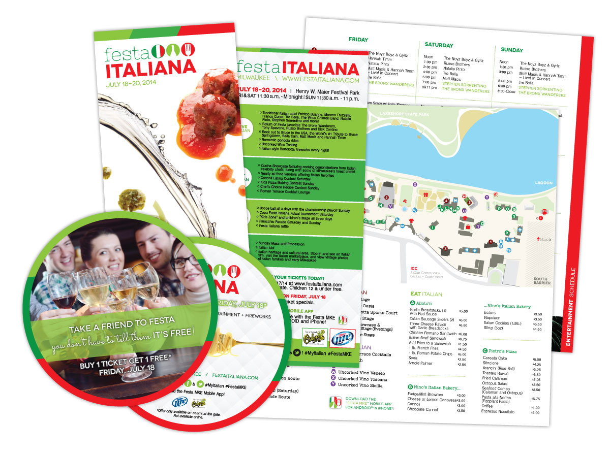 festa italiana marketing materials 2014