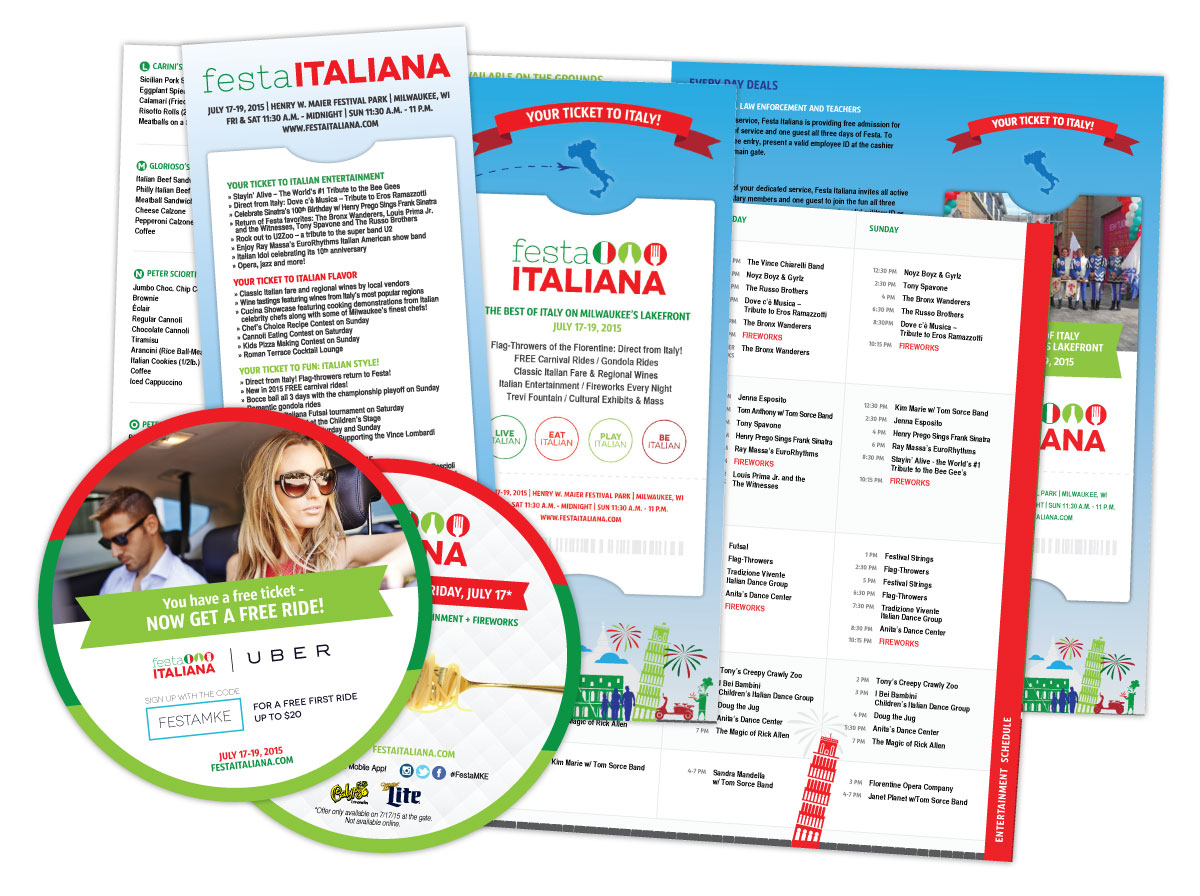 Brochure and Marketing Materials for Festa Italiana Milwaukee 2015