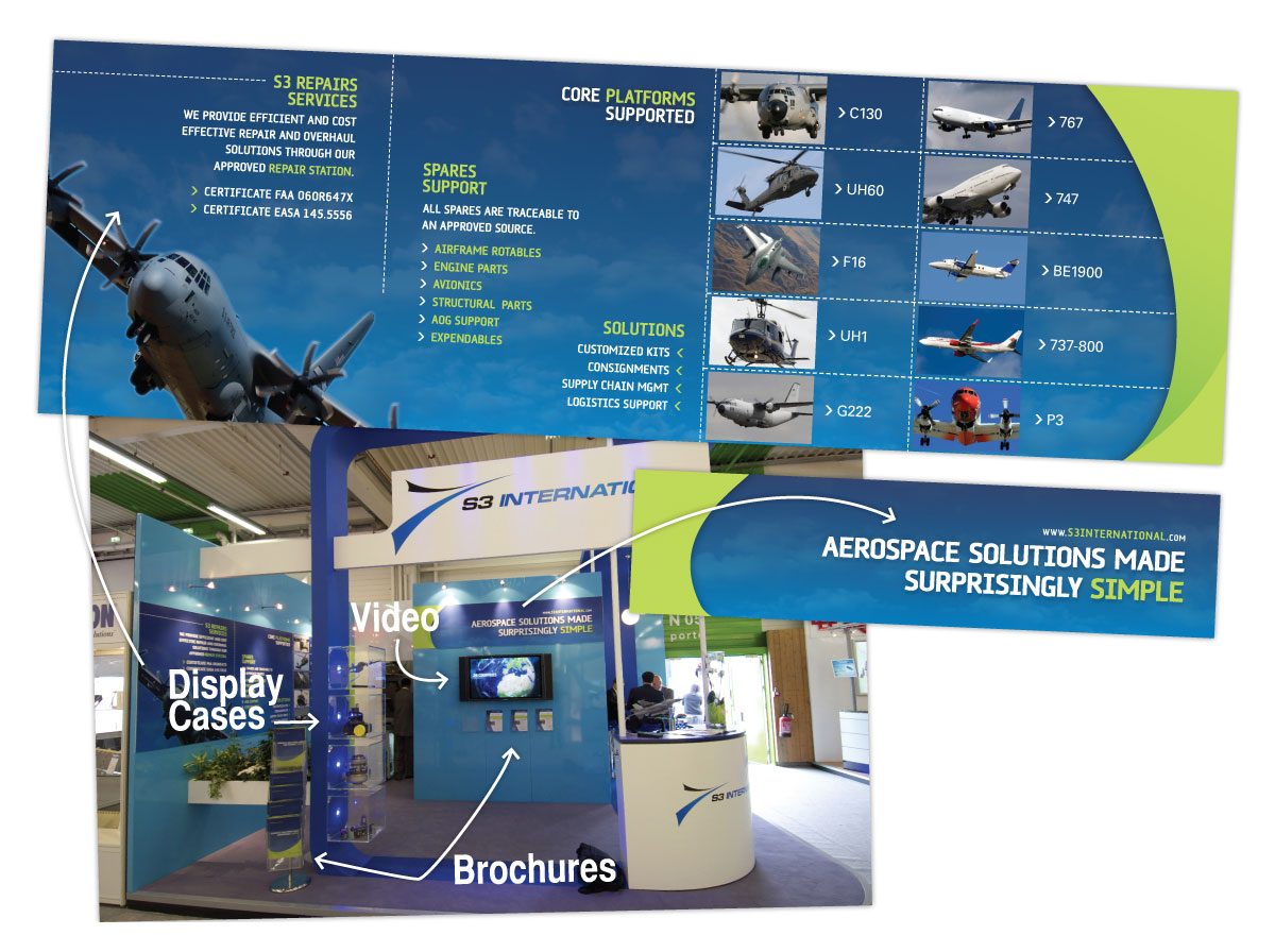 Expo Booth Design for Paris Air Show for S3 International
