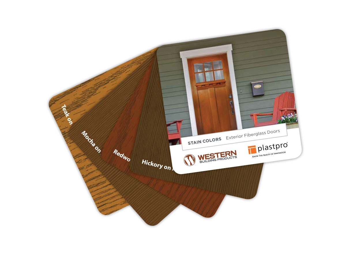 Wood Grain Swatch Photography Book of Western Doors Design