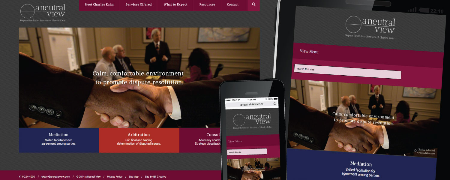 Responsive Website, Branding and Logo Design for A Neutral View