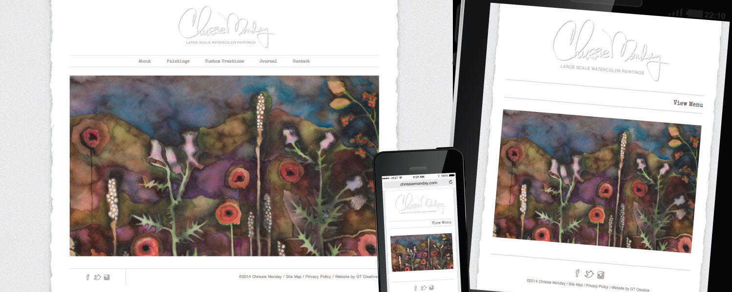 Signature Logo and Responsive Website Design for Watercolor Artist Chrissie Monday