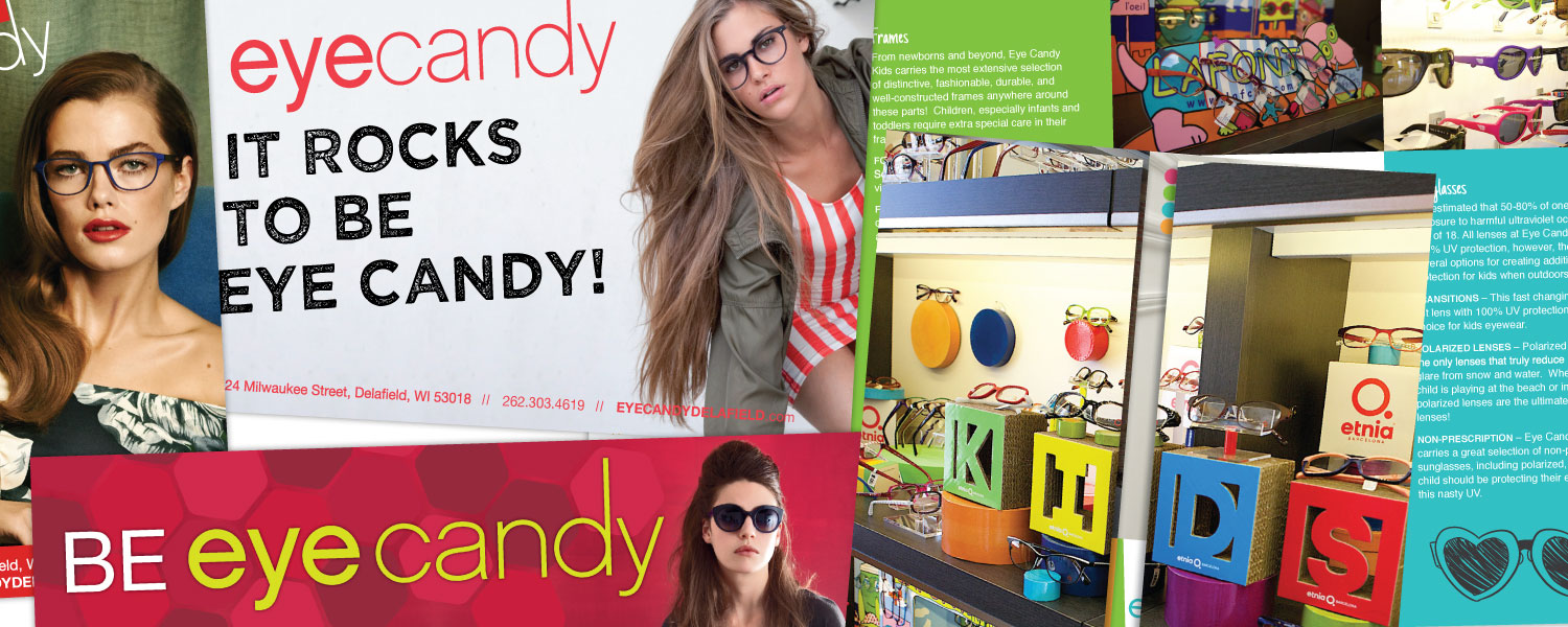Business Card, Billboard, Postcard, Online Ad Design for Eyecandy