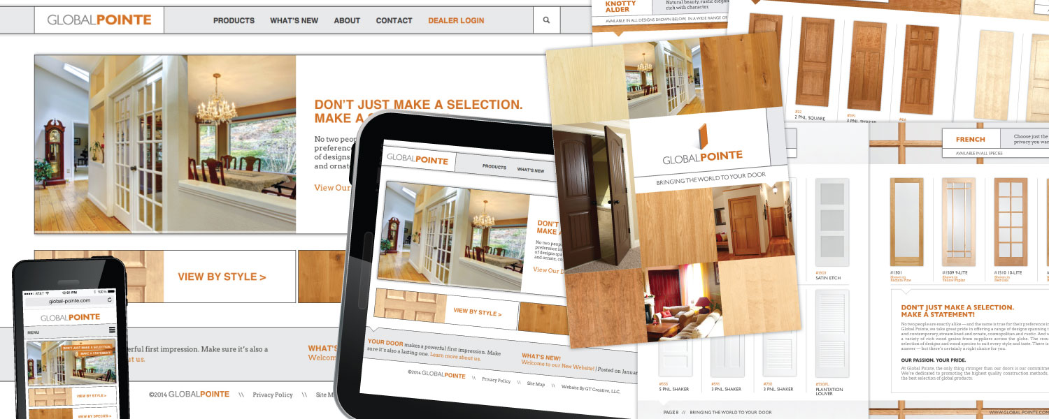 Responsive Website and Door Product Catalog for Global Pointe Doors