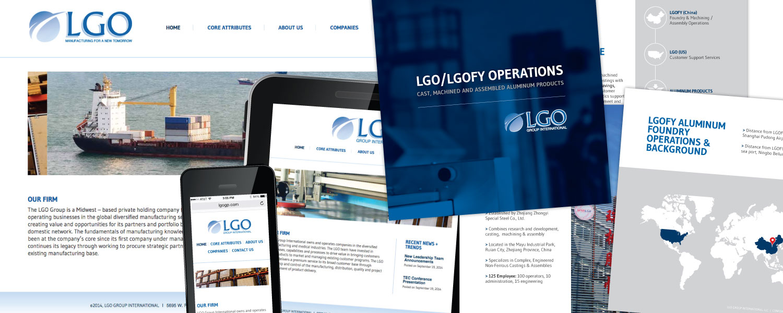 Responsive website and Sales Brochure Booklet Design for LGO Group International