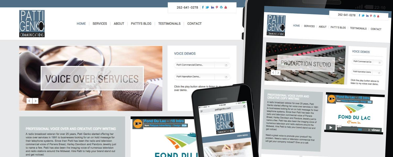 Responsive Website Design for Patti Genko Communications