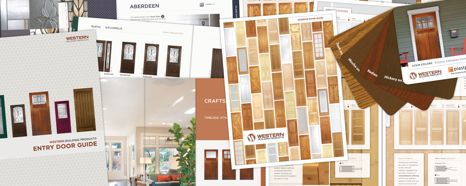 Catalog and Poster Design for Interior and Exterior Doors Western