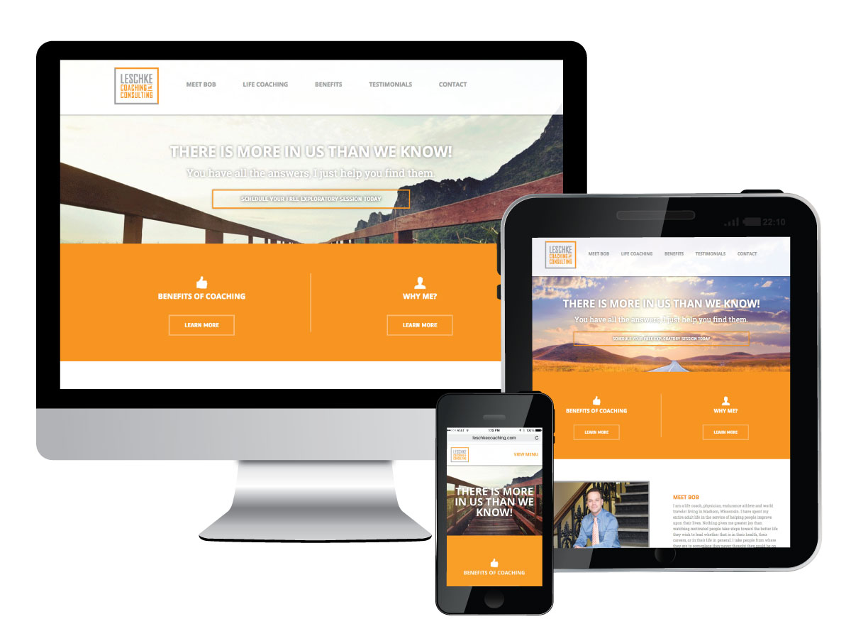Responsive Website for Leschke Coaching and Consulting