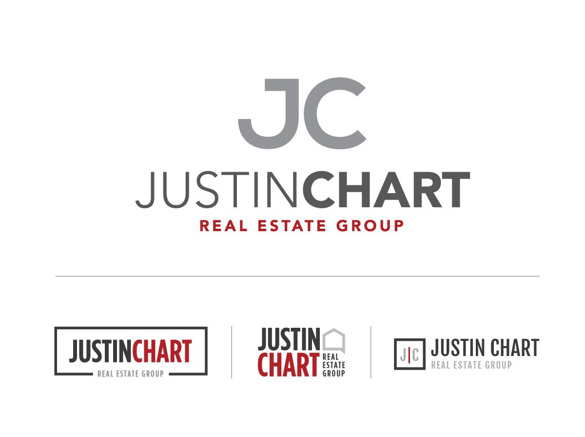 Logo Design Real Estate Group Justin Chart