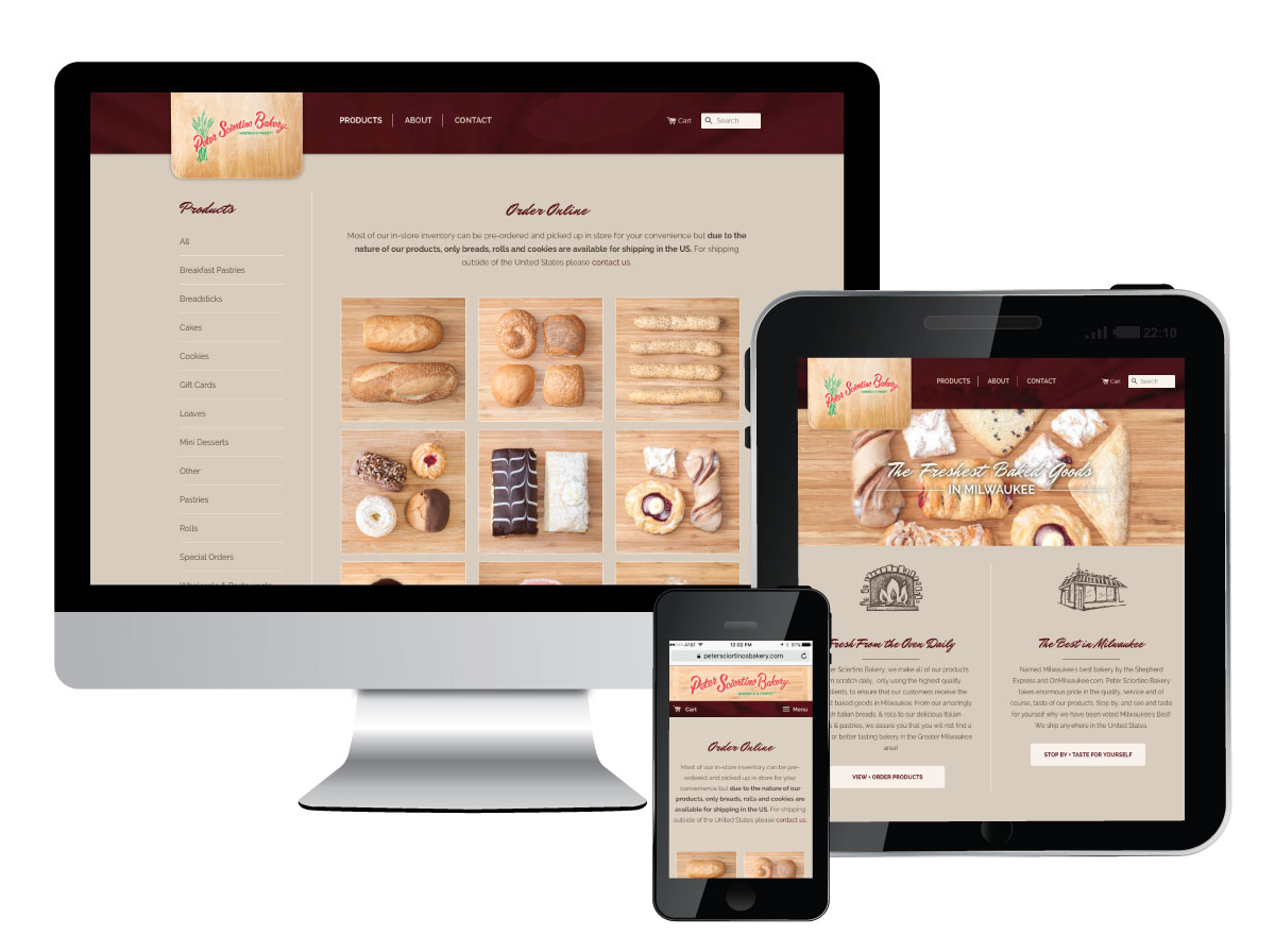 Peter Sciortino Bakery Ecommerce Shopping Cart Website Built on Shopify