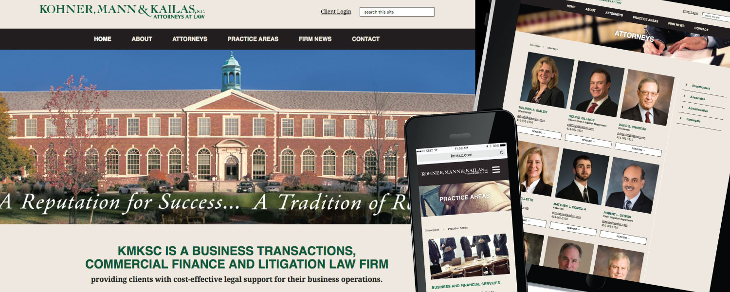 Kohner, Mann & Kailas Attorney's at Law Responsive Website