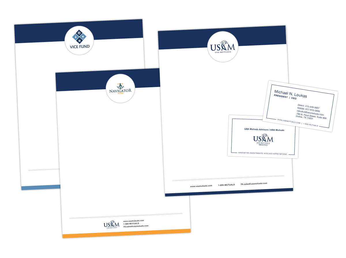 Letterhead and Business Cards for USAM